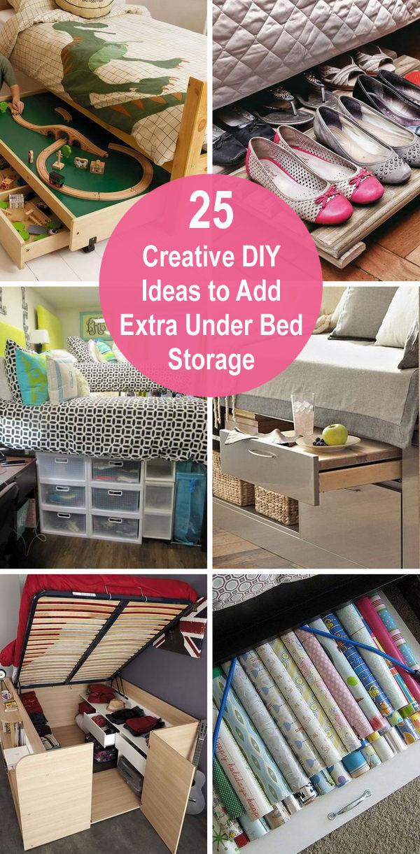25 Creative DIY Ideas to Add Extra Under-bed Storage.