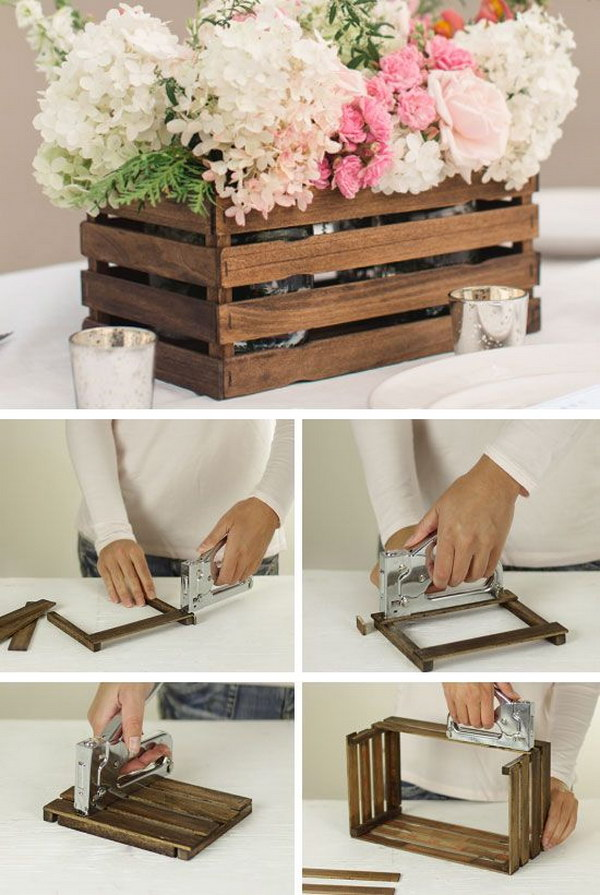 DIY Rustic Stick Basket.