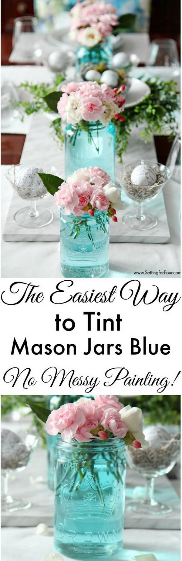 DIY Mason Jar Centerpieces.