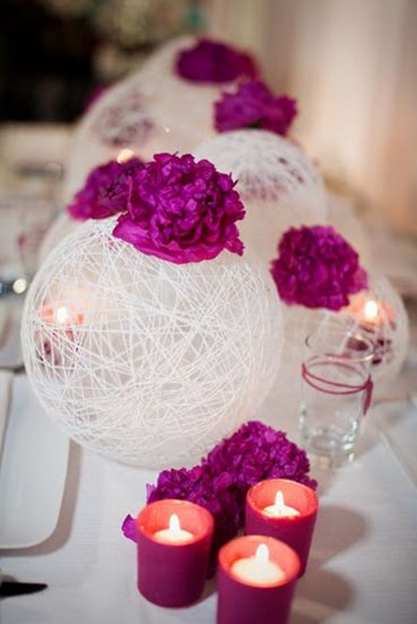 String Spheres Centerpieces.
