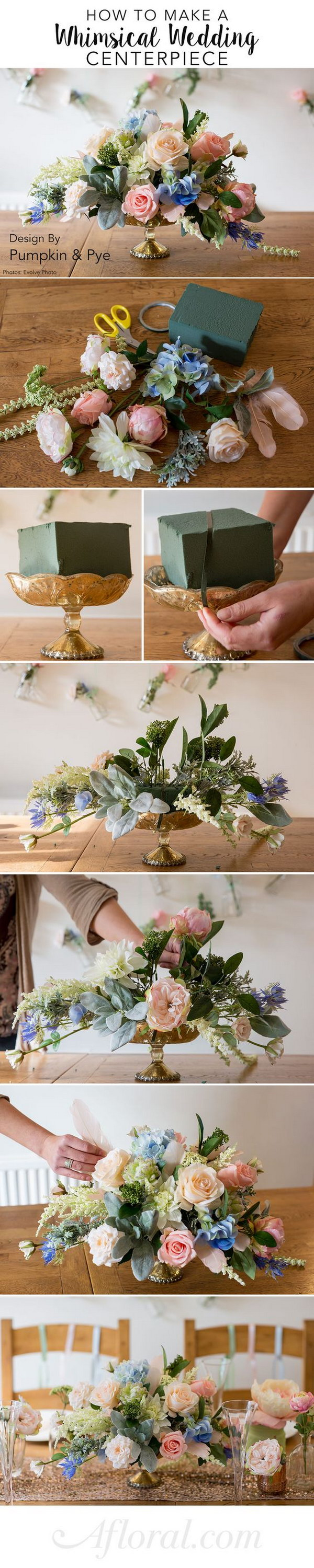 DIY Floral Centerpiece.