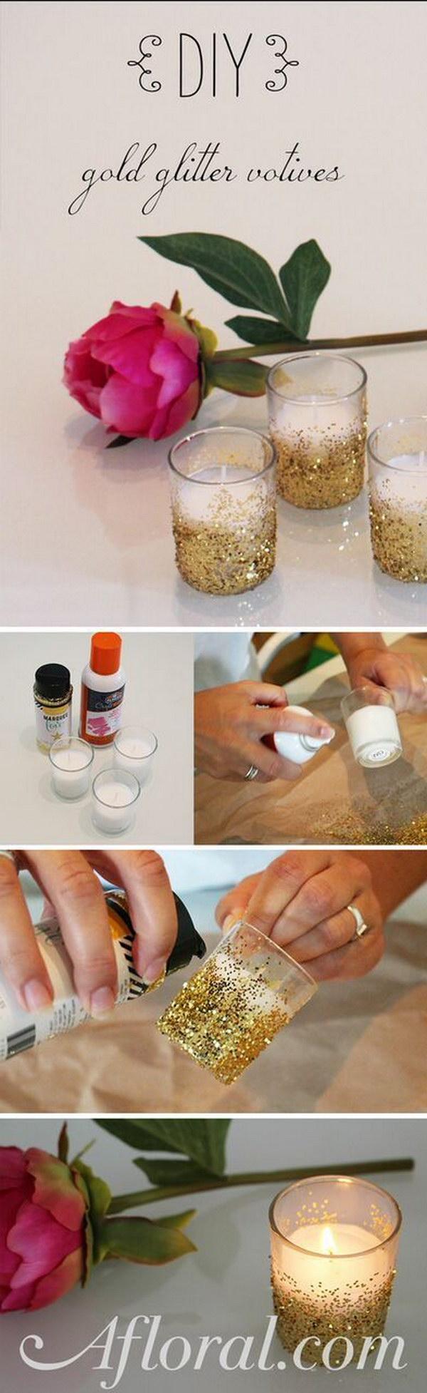 DIY Glitter Voitive.