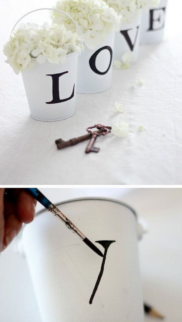 DIY Love Buckets.