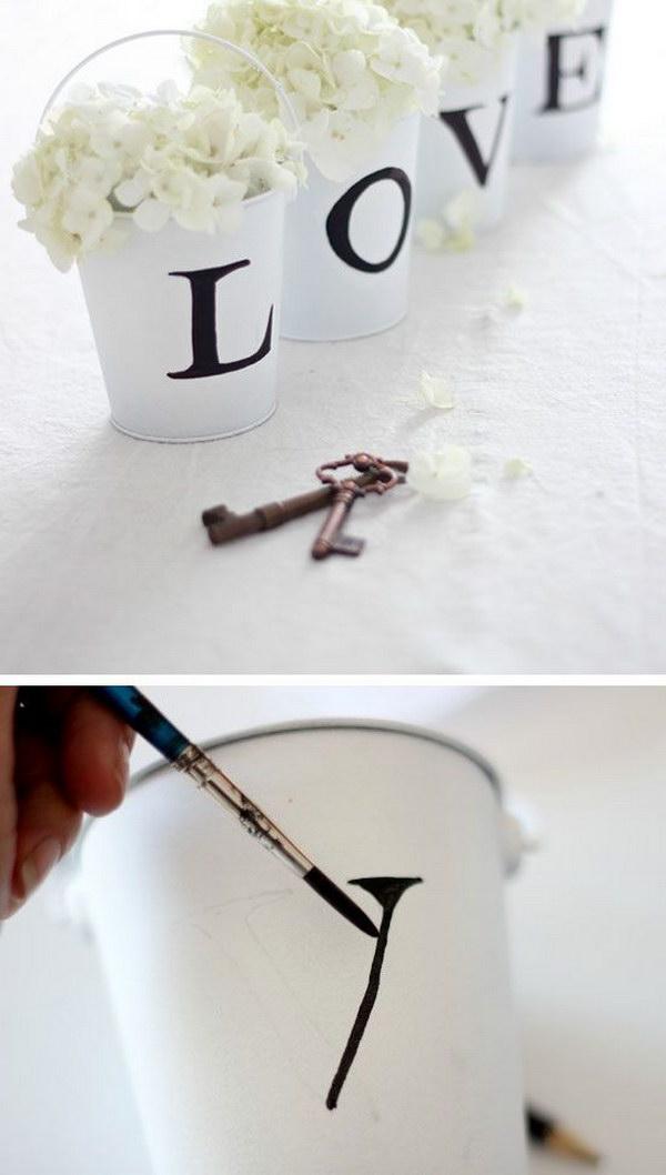 DIY Love Buckets.