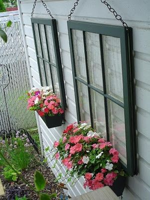 Recycled Window Planter.