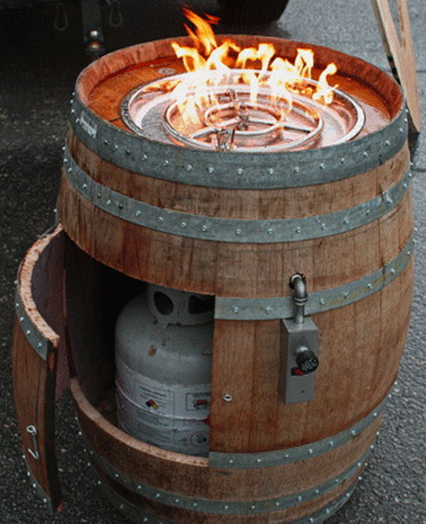 Wine Barrel Fire Pit.  Get the tutorial