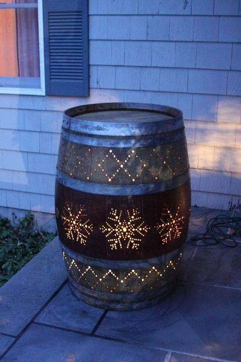 Turn a Wine Barrel Into an Outdoor Porch Light.