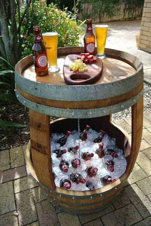 DIY Wine Barrel Cooler.