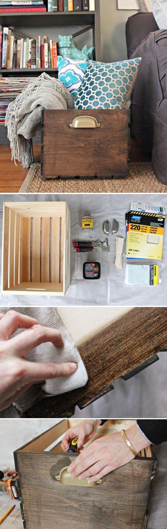 DIY Wooden Storage Crate.