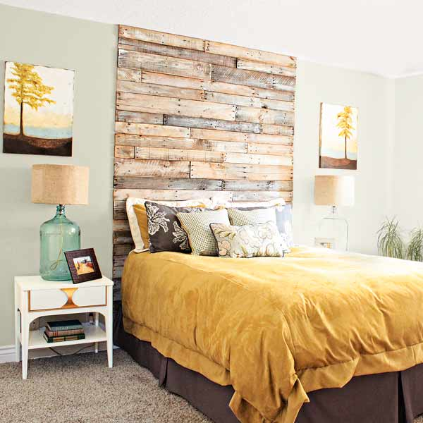 Rustic Wood Headboard. See more details
