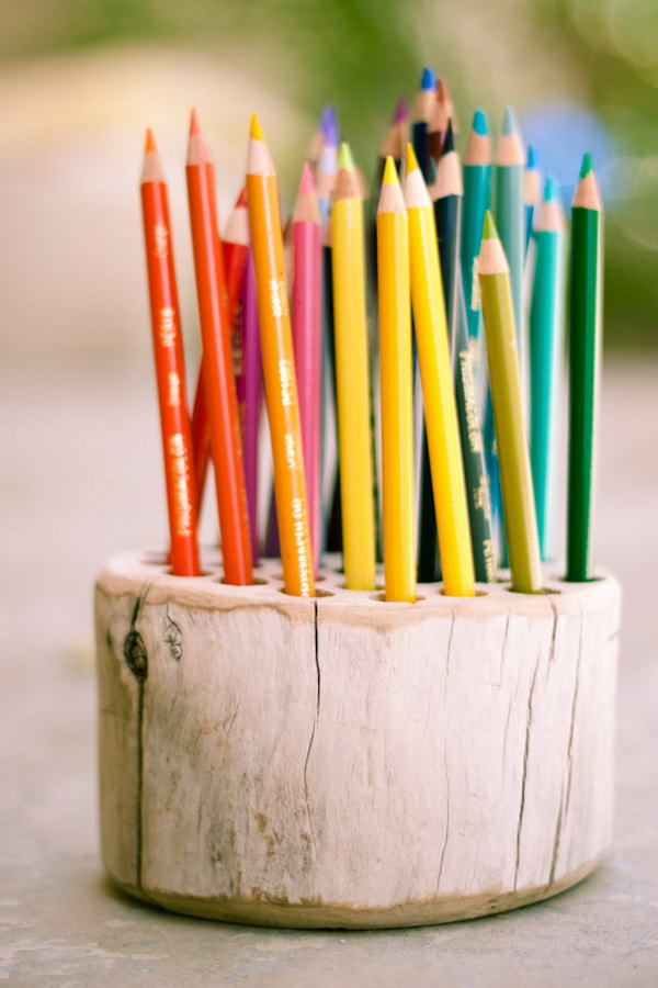 Rustic Pencil Holder. Get the instructions