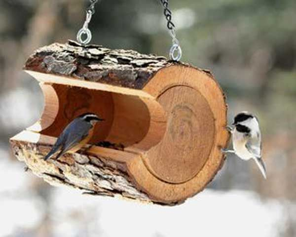 DIY Wood Bird Feeder.