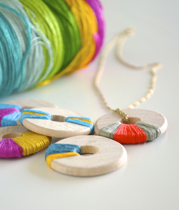 Wooden Ring Pendants. See more details