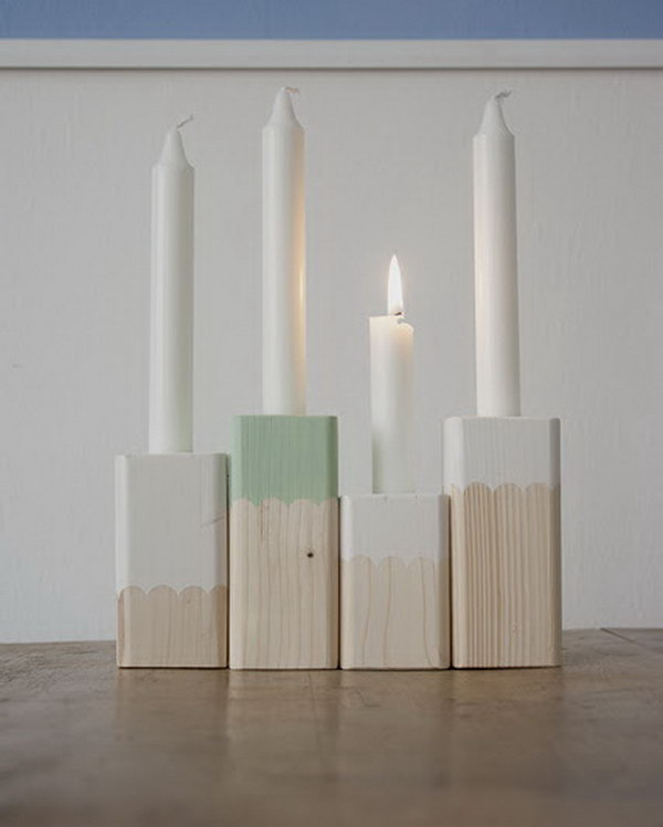 Paint-Dipped Candle Holders. See more details