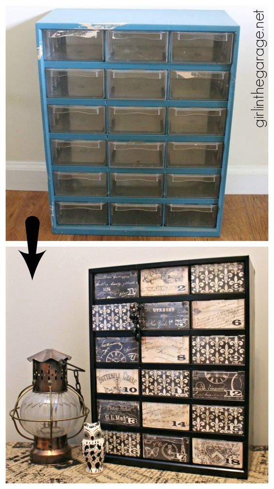 Upcycled Garage Storage Organizer.