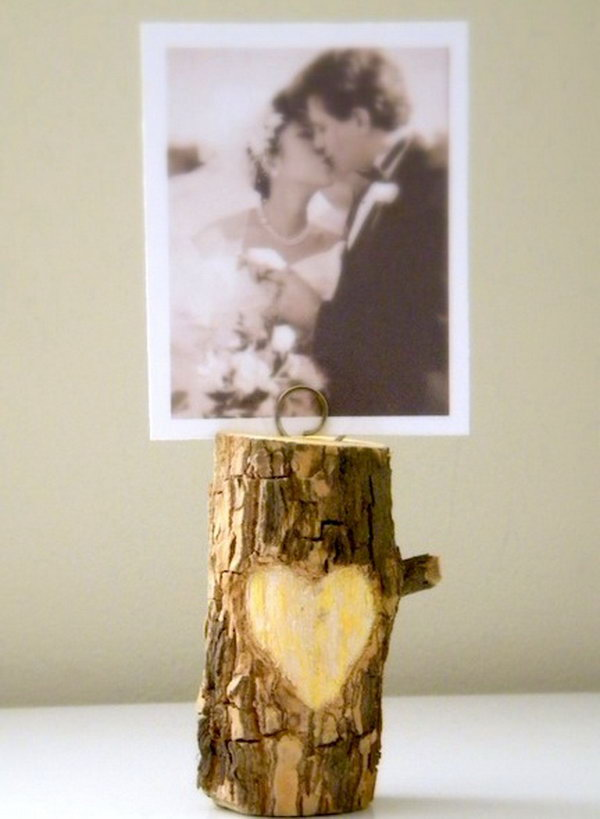 DIY Wood Photo Holder. See more details