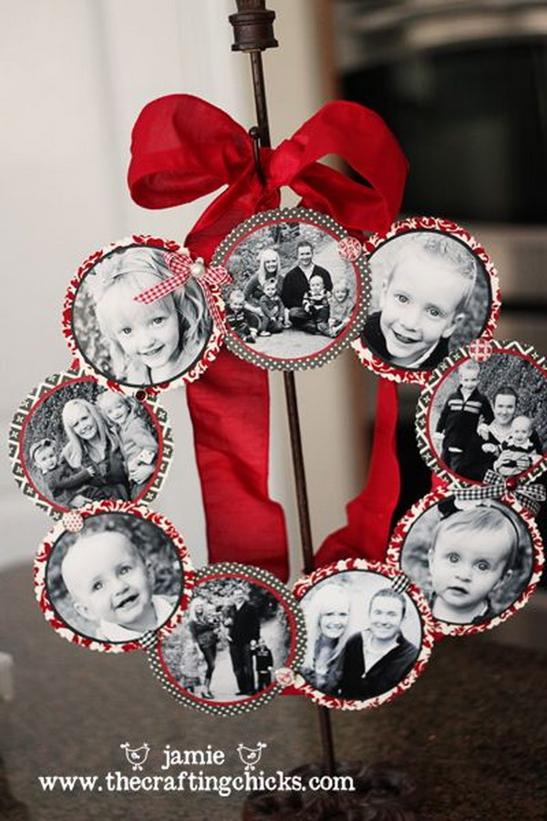 DIY Family Photo Wreath