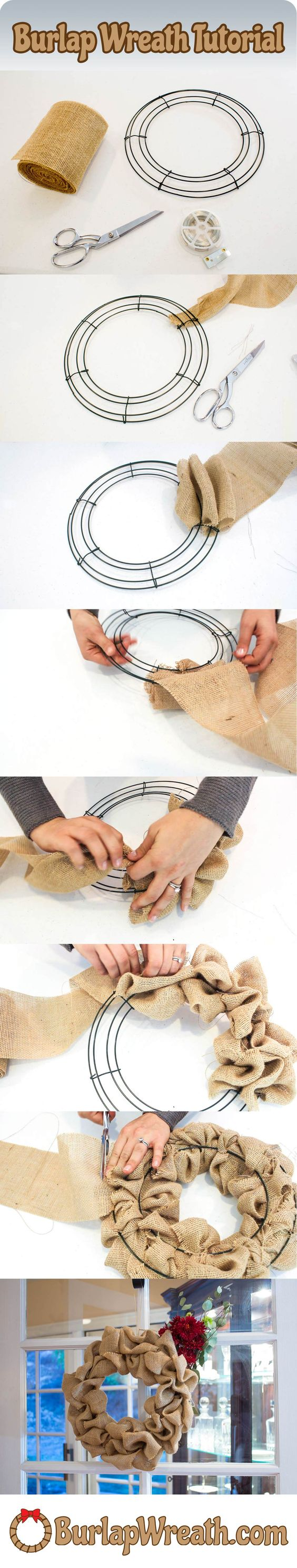 DIY Burlap Wreath.