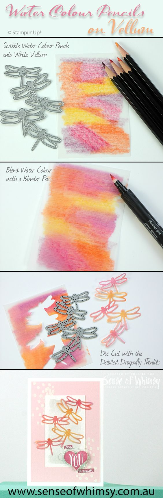 Water Coloured Dragonfly Card.