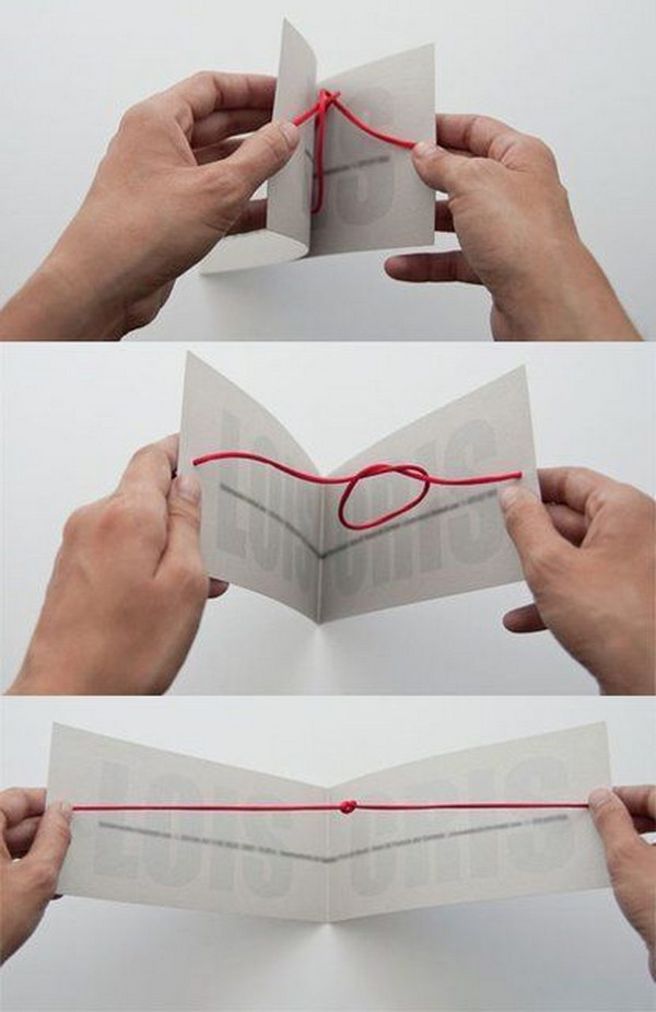 Unique Knot Card.