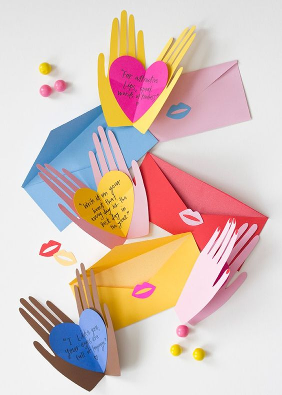 Hand Holding Hearts Pop Up Card.