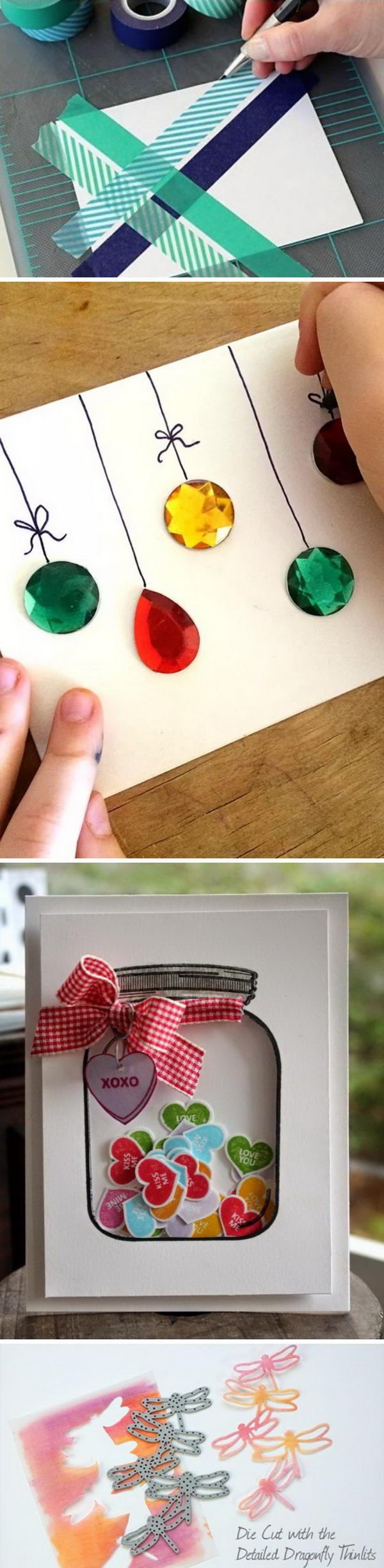 how to make handmade christmas cards step by step