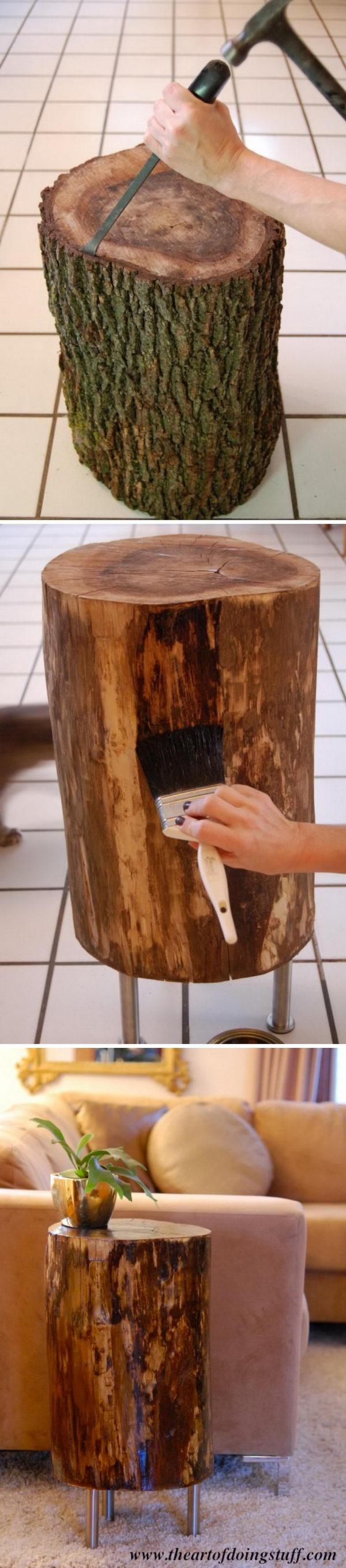 Tree Stump Table.
