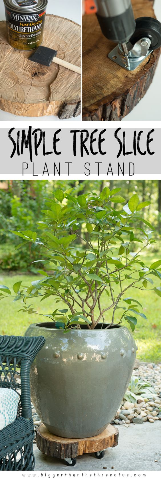 DIY Rolling Plant Stand.
