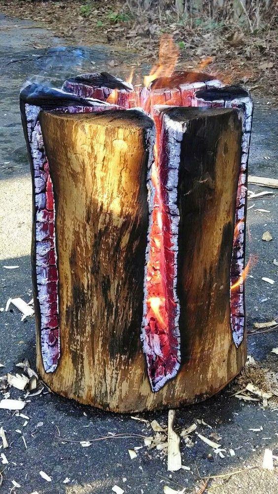 Reciclar troncos de madera