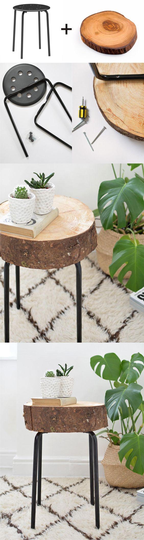 Ikea Hack Wooden Stool.