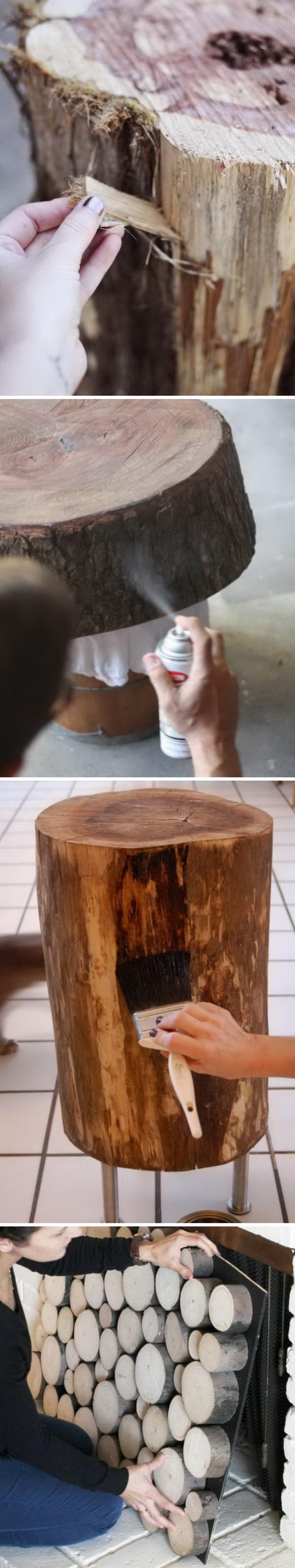 Creative Tree Stump DIY Ideas.