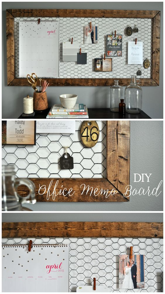 Easy DIY Office Memo Board.