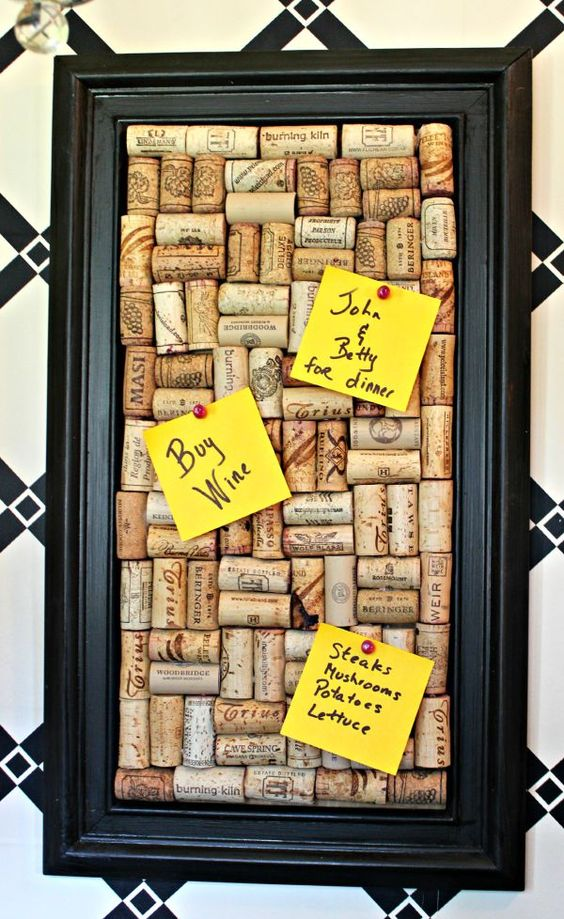 Wine Cork Memo Board.