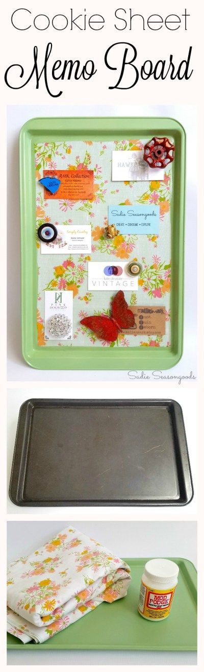 Cookie Sheet Magnetic Memo Board.