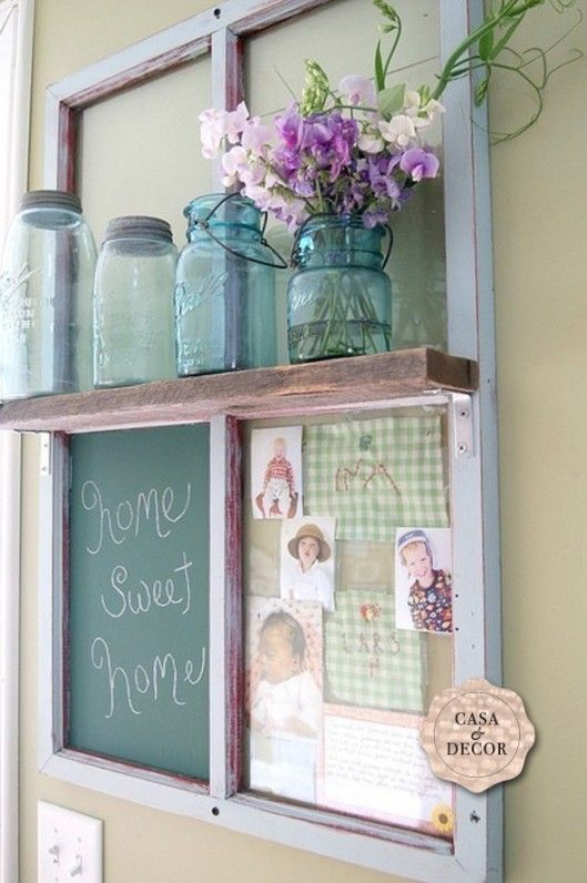 Repurposed Window Frame Board.