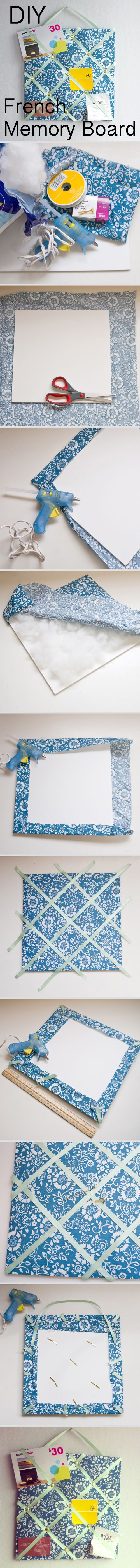DIY French Memory Board Using Office Supplies.