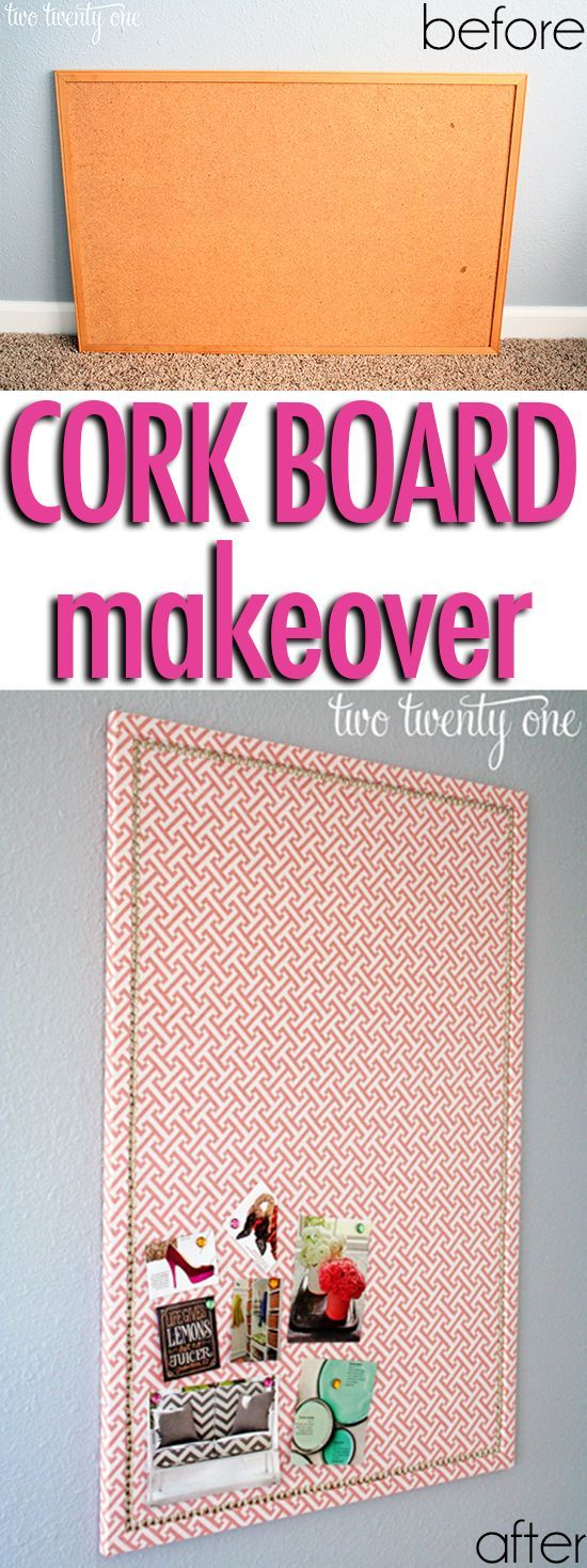 Faux Nail Head Trimmed Cork Board.