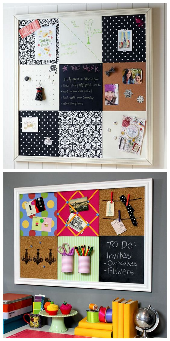 Practical Yet Fun Grid DIY Bulletin Board inspired by Pottery Barn Teen.