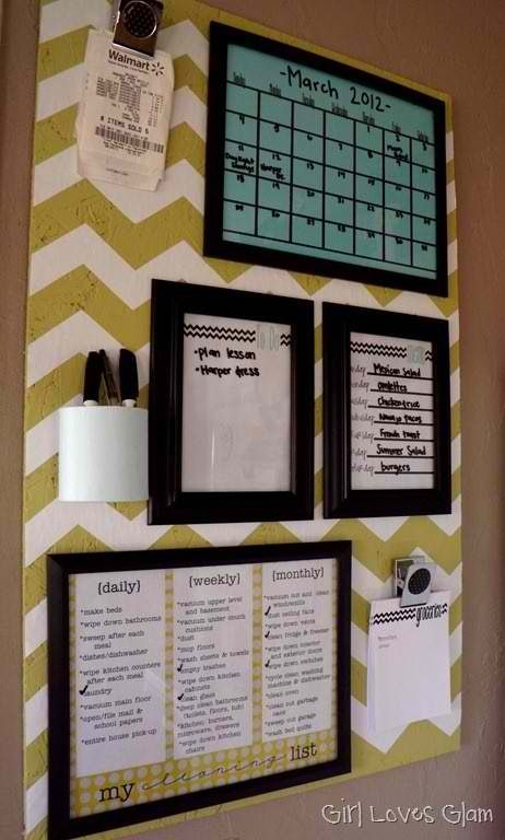 Easy DIY Organization Board.
