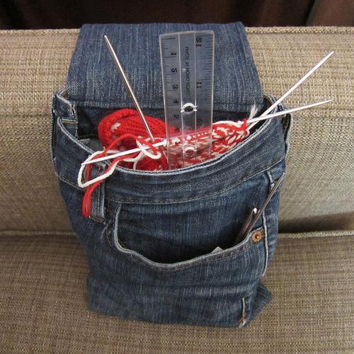 Denim Armrest Project Bag.