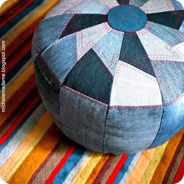 Denim Pouf.