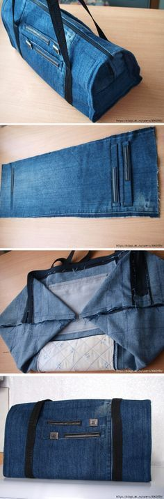 Upcycle Old Jeans Into A Beautiful Zippered Bag.