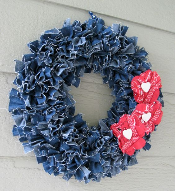 Jeans Rags Wreath.