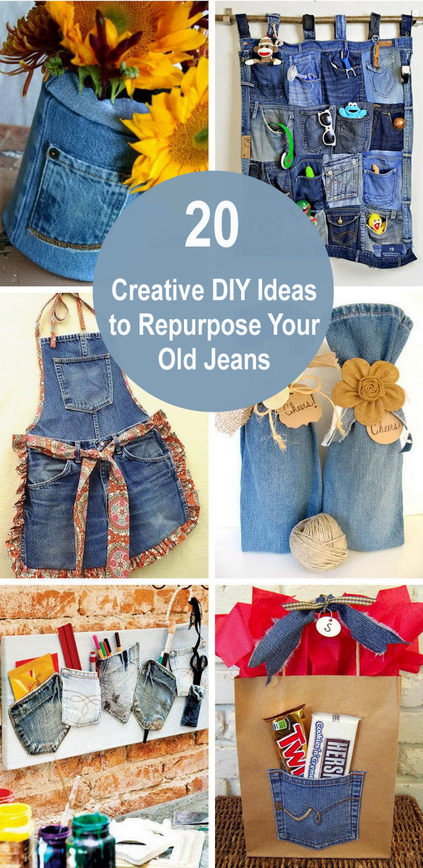 20 Creative DIY Ideas to Repurpose Your Old Jeans.