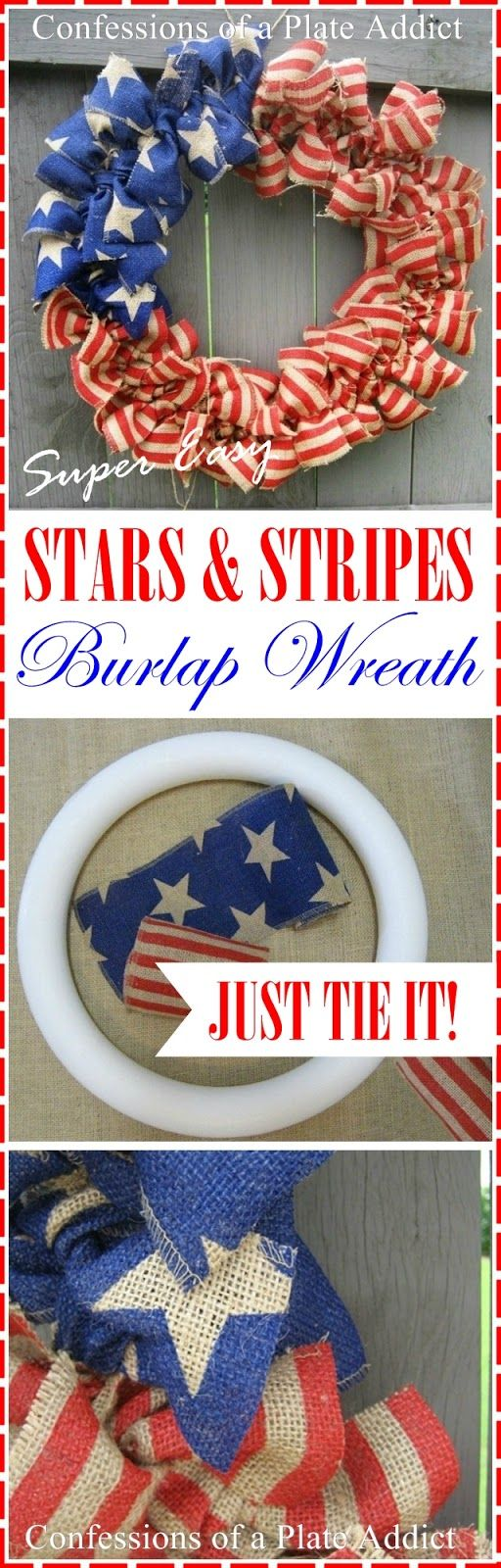 Stars and Stripes Burlap Wreath.
