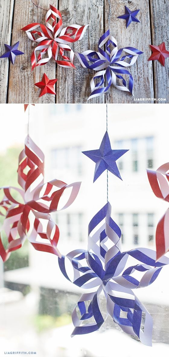 DIY Paper Stars for Fourth of July.