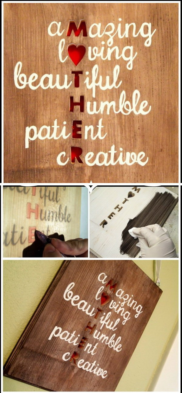 Meaningful DIY Plaque Wall Art for Mom.