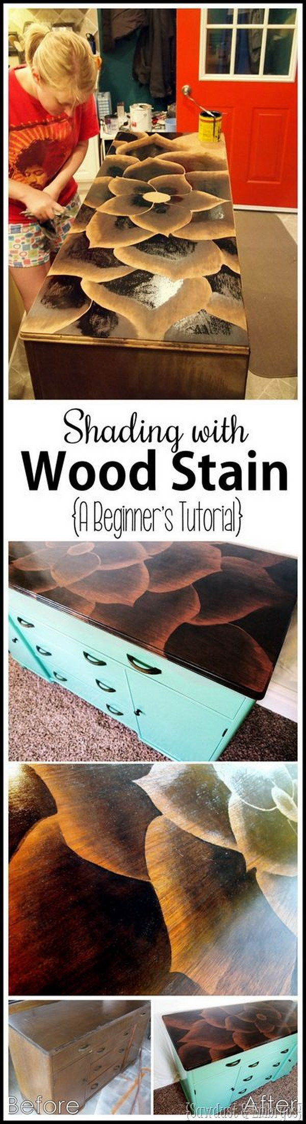 Using Stain To Make Artwork On Furniture