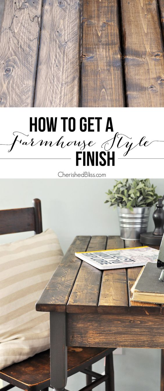 Easy Farmhouse Style Finish for Furniture.