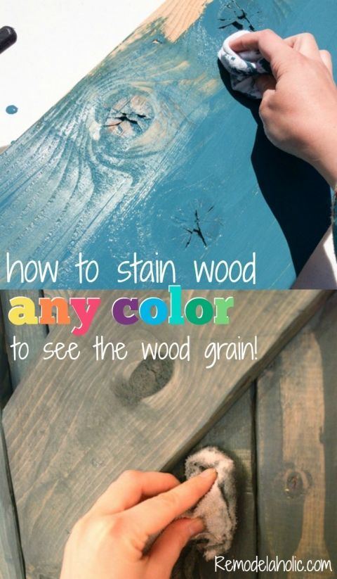 How to use paint to color wash and stain wood any color.